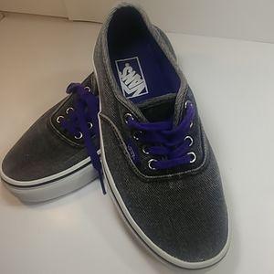 Gray & Purple Jean Style Classic Vans Women's 7.5